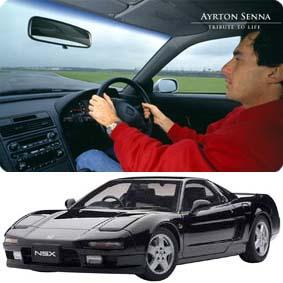Honda NSX carro preto de Ayrton Senna marca Autoart escala 1/18