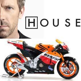 Honda Repsol 2010 similar a Moto do Dr. House (Hugh Laurie) Doutor Gregory House