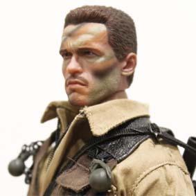 Hot Toys Alan Dutch - Bonecos Hot Toys Predator Arnold Schwarzenegger