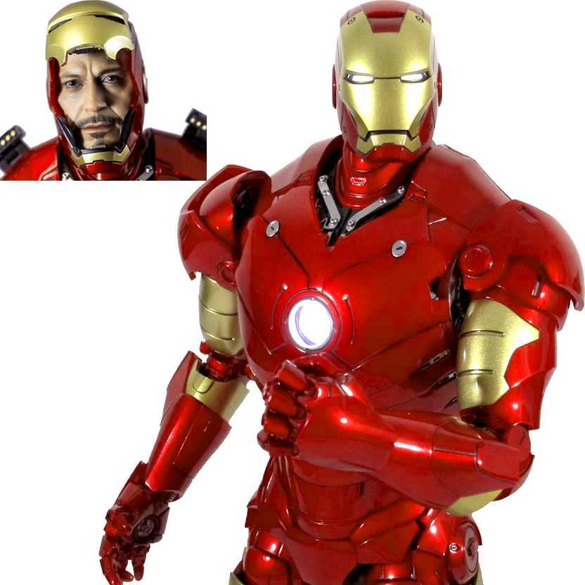 Hot Toys Iron Man Mark 3 (diecast) III MMS256D07 Homem de Ferro escala 1/6