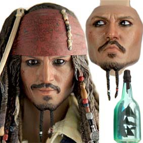 Hot Toys Jack Sparrow DX06 Boneco Johnny Depp (Pirates of the Caribbean) HotToys