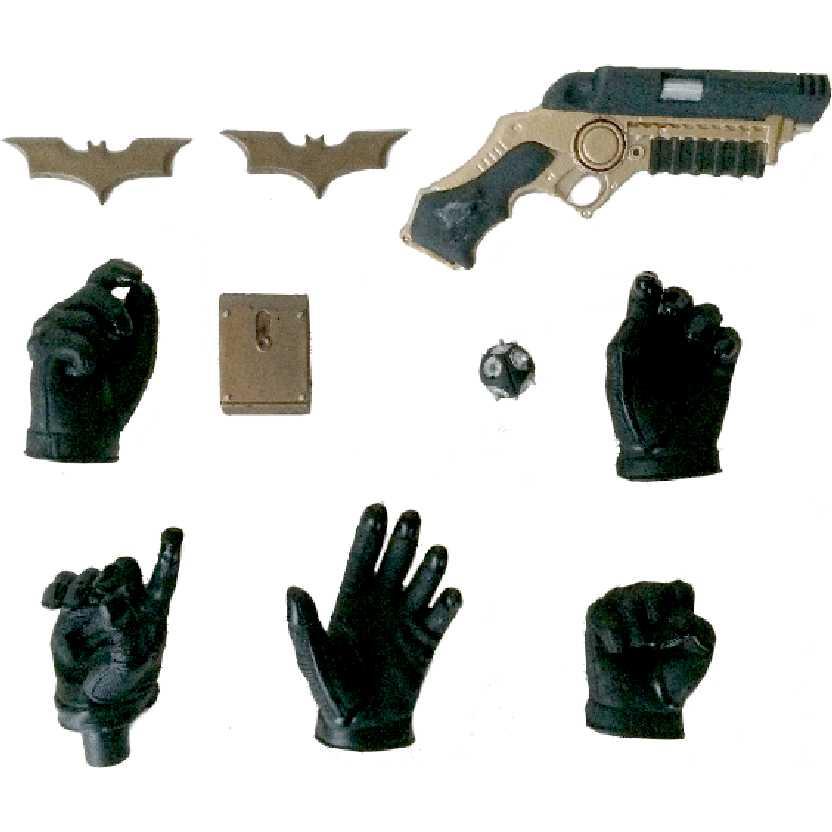 Hot Toys Lote com 10 peças do Batman The Dark Knight escala 1/6