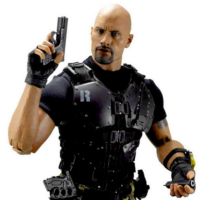 Hot Toys MMS199 G.I. Joe Retaliation Roadblock (Dwayne Johnson) escala 1/6