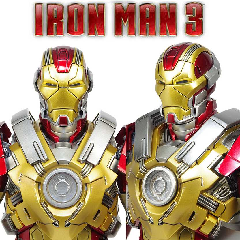 Hot Toys MMS212 Iron Man 3 Mark XVII Heartbreaker - Homem de Ferro III escala 1/6 com luz