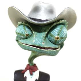 Hot Toys Rango & Priscilla Action Figures ( Johnny Depp ) não acompanha o peixe