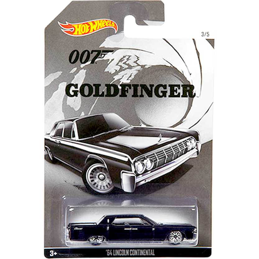 Hot Wheels 007 James Bond 64 Lincoln Continental Goldfinger CGB75 escala 1/64