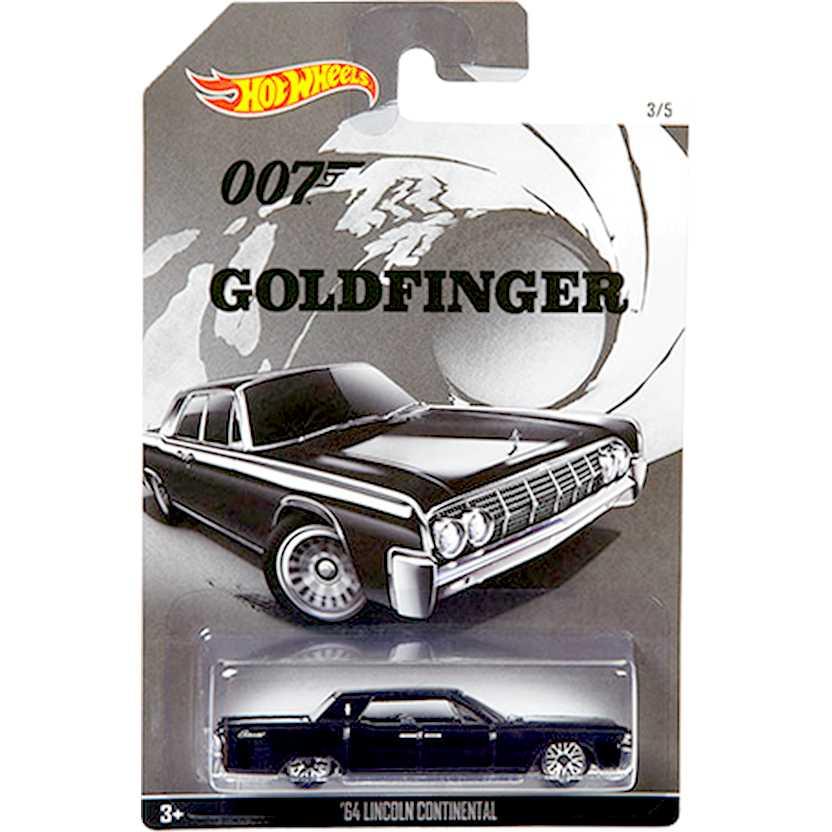 Hot Wheels 007 James Bond 64 Lincoln Continental Goldfinger CGB75 escala 1/64