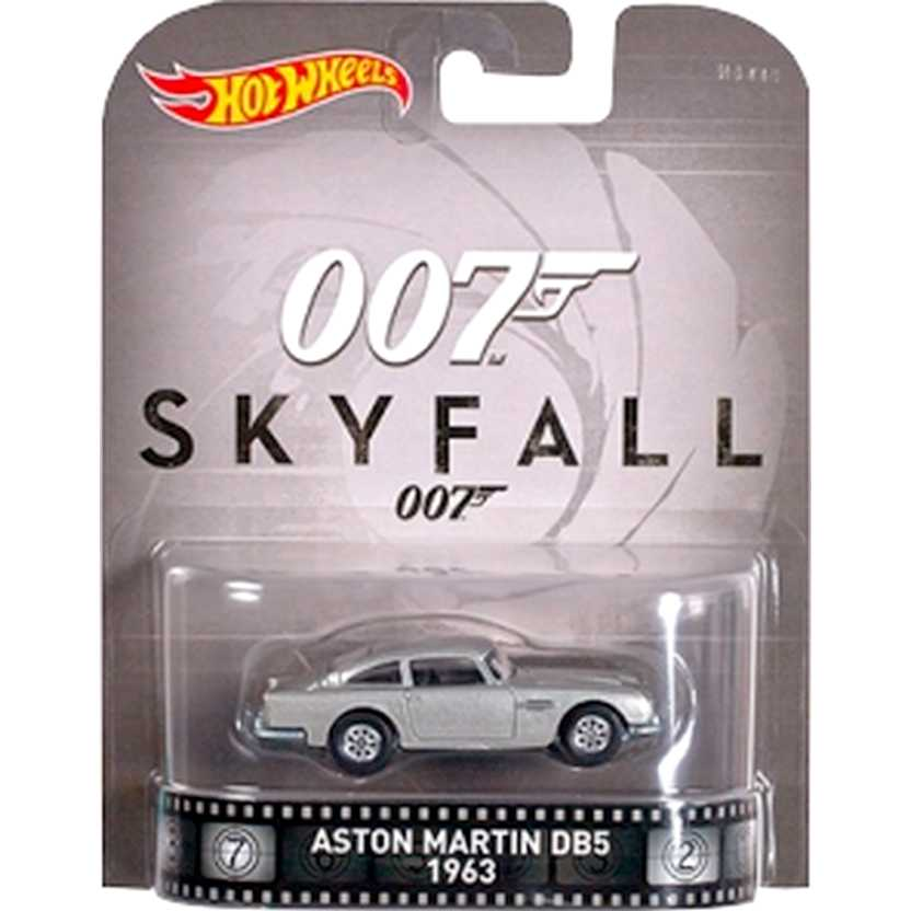 Hot Wheels 007 Skyfall 1963 Aston Martin DB5 Retro Entertainment DJF45 escala 1/64