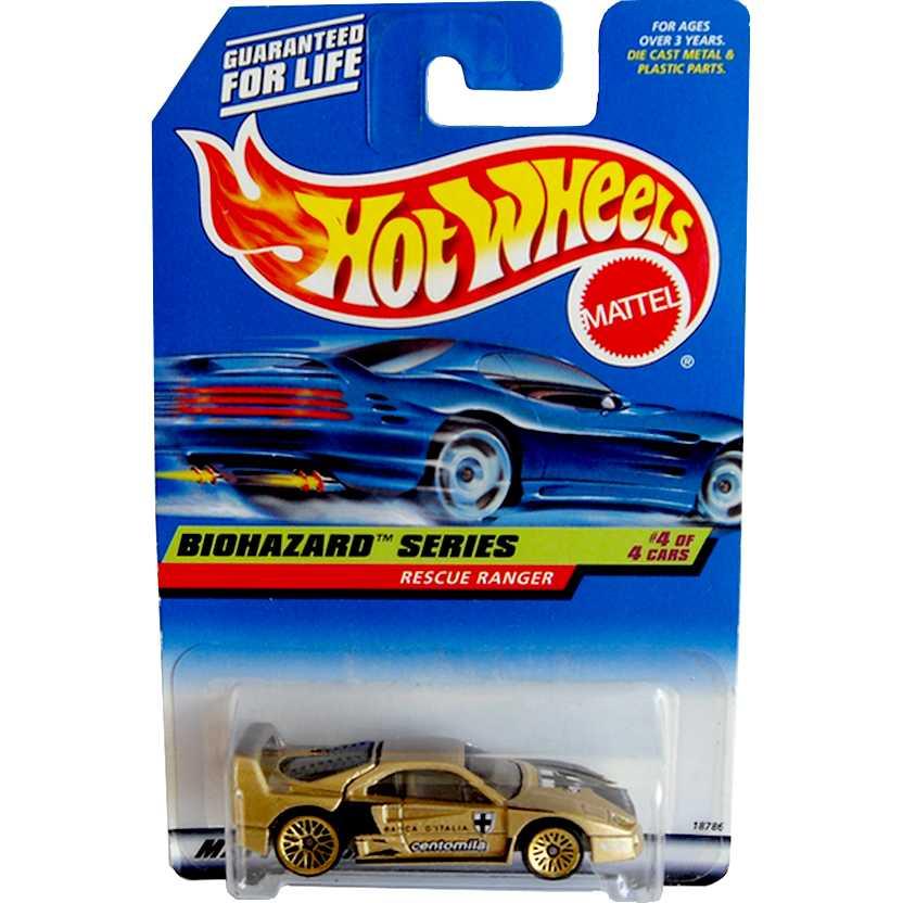 Hot Wheels 1997 Ferrari F40 #720 Biohazard series (cartela com erro Rescue Ranger) 18786