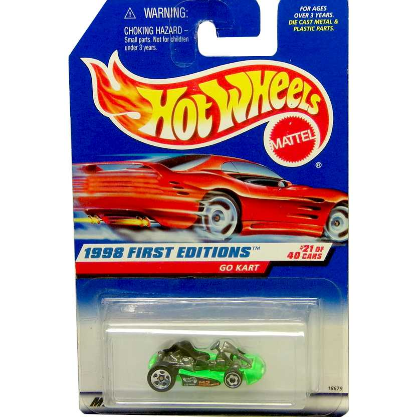 Hot Wheels 1998 Go Kart verde 21 of 40 18679 #651 escala 1/64