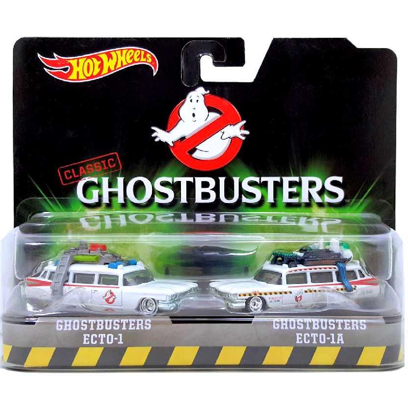 Hot Wheels 2 Pack Ghostbusters Ecto-1 E Ecto-1A DVG08 escala 1/64