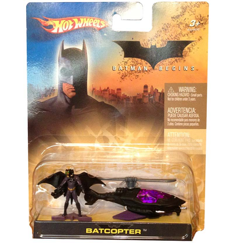 Hot Wheels 2005 Batman Begins Batcopter + mini Batman H6297