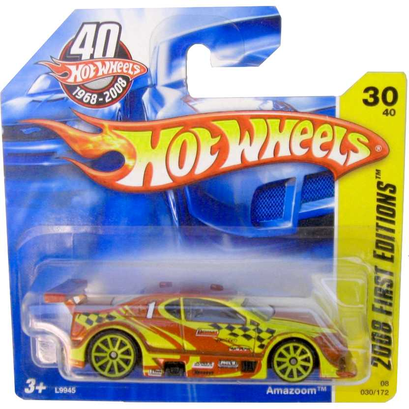 Hot Wheels 2008 Amazoom vermelho L9945 series 30/40 030/172 Stock Car escala 1/64