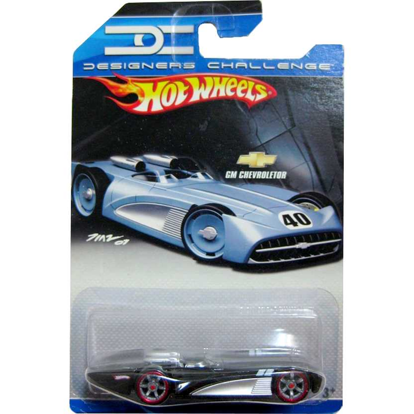 Hot Wheels 2008 Designers Challenge GM Chevroletor (preto) Concept Car escala 1/64 M3318
