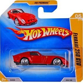 Hot Wheels 2009 Catálogo Ferrari 250 GTO N4008 series 05/42 005/166