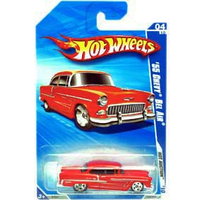 675c41263 Hot Wheels 2010 55 Chevy Bel Air vermelho (1955) R7587 series 04 10