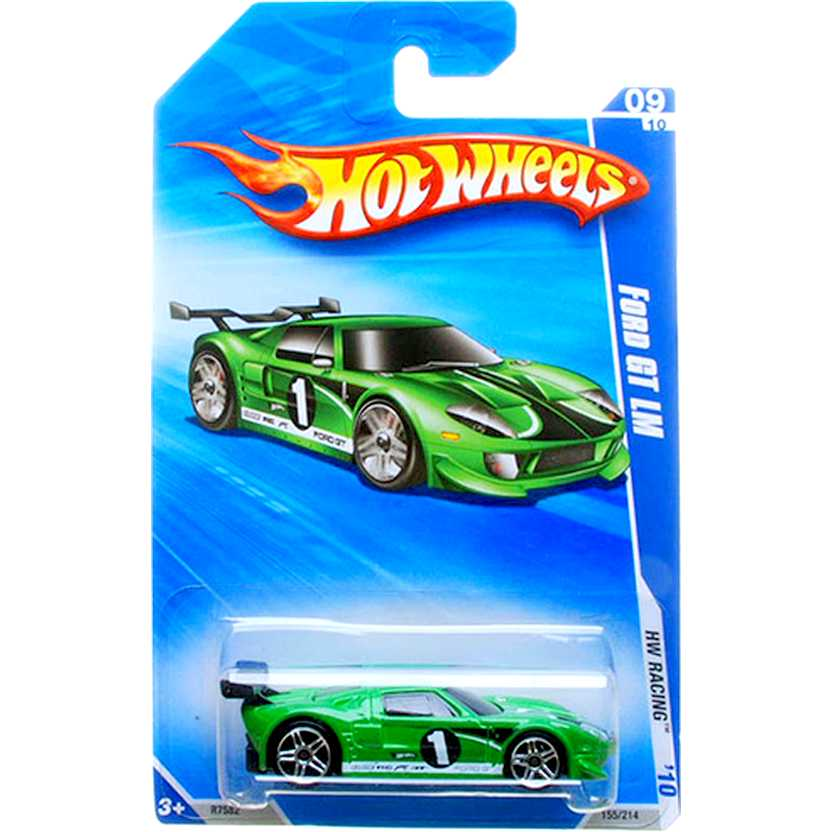 Hot Wheels 2010 Ford GT LM verde R7582 series 09/10 157/240 escala 1/64