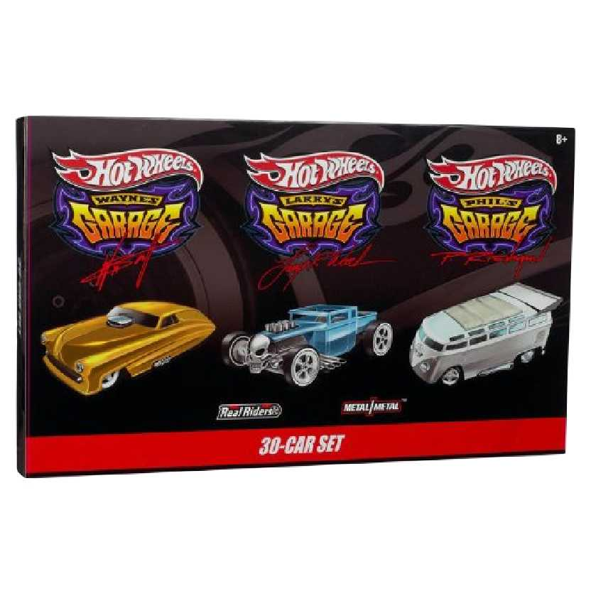 Hot Wheels 2010 Waynes, Larrys e Phils Garage 30 Car Boxed Set escala 1/64 (RARIDADE)