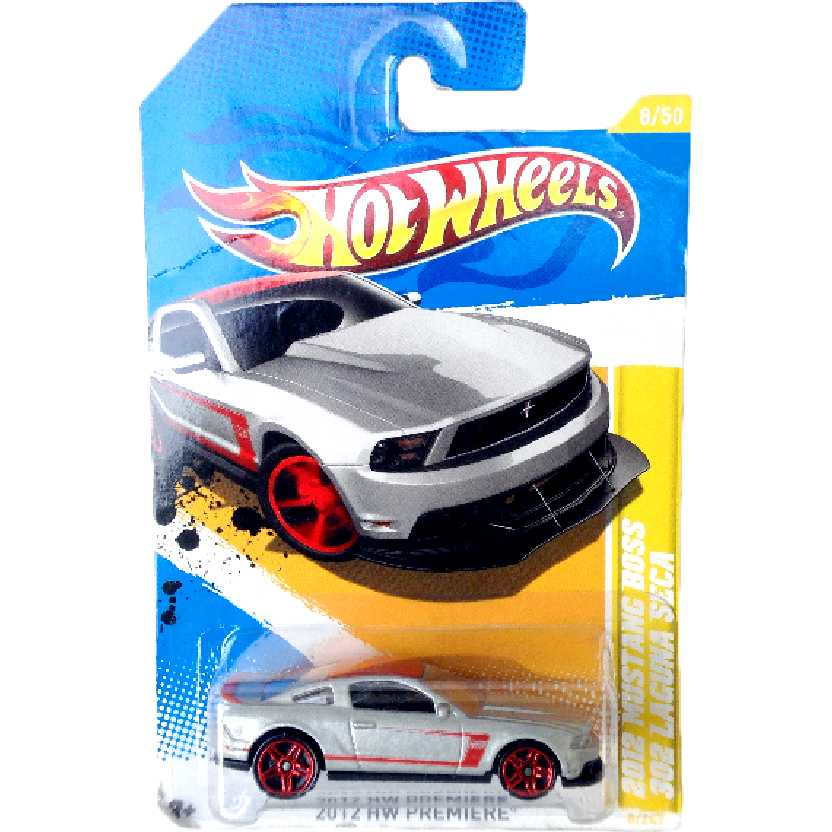 Hot Wheels 2012 Ford Mustang Boss 302 Laguna Seca series 8/50 8/247 V5570 escala 1/64