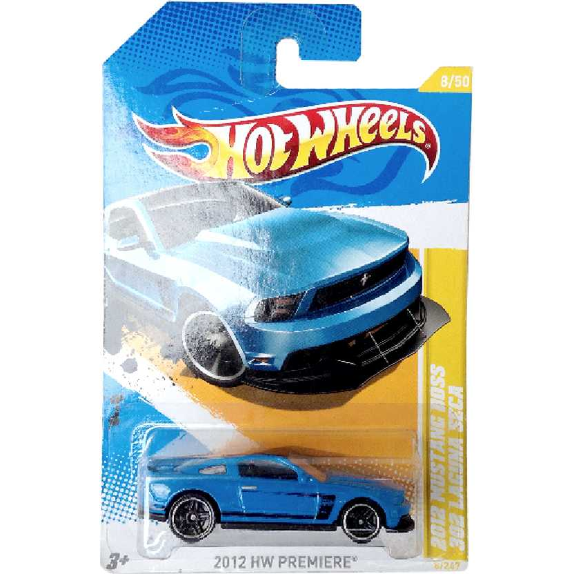 Hot Wheels 2012 Ford Mustang Boss 302 Laguna Seca series 8/50 8/247 V5623 escala 1/64