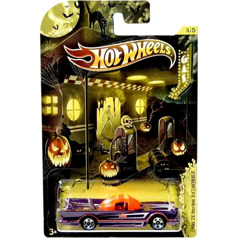 Hot Wheels 2012 Happy Halloween 1966 TV series Batmobile W4069 3/5