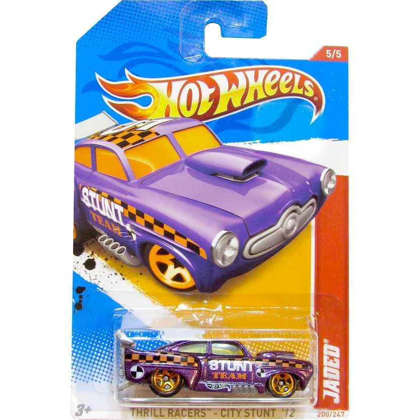 Hot Wheels 2012 Jaded V5504 series 5/5 200/247 Thrill Racers - City Stunt 12 escala 1/64