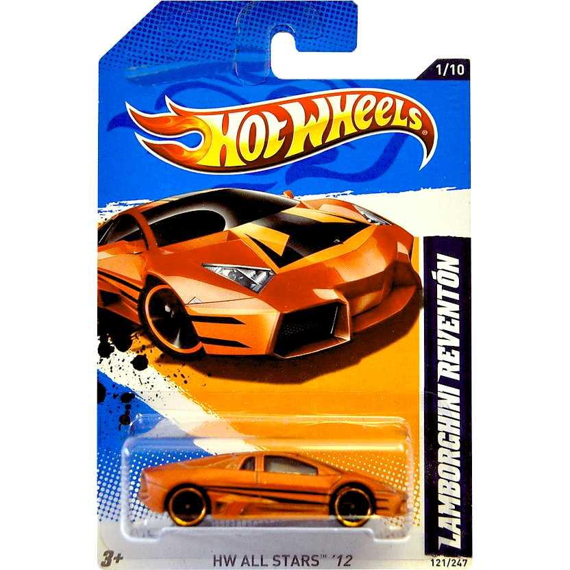 Hot Wheels 2012 Lamborghini Reventón bronze V5424 series 1/10 121/247 escala 1/64