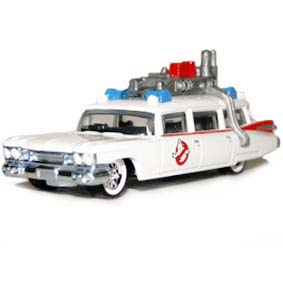 Hot Wheels 2013 Retro Entertainment Ghostbusters ECTO-1 pneus de borracha X8919