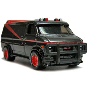 Hot Wheels 2013 retro entertainment the A-TEAM GMC panel van X8909