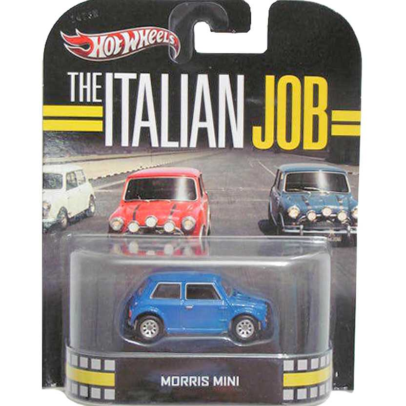 Hot Wheels 2013 Retro Entertainment The Italian Job Morris Mini azul X8922