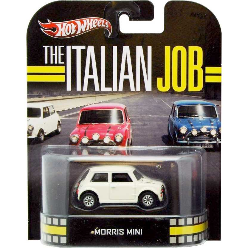Hot Wheels 2013 Retro Entertainment The Italian Job Morris Mini branco X8905