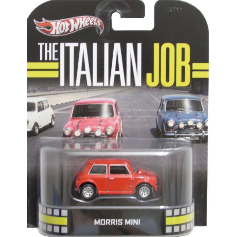 Hot Wheels 2013 Retro Entertainment The Italian Job - Morris Mini vermelho X8913