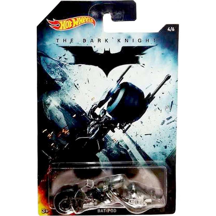 Hot Wheels 2015 Bat-Pod The Dark Knight Moto do Batman series 4/6 DFK75 escala 1/64