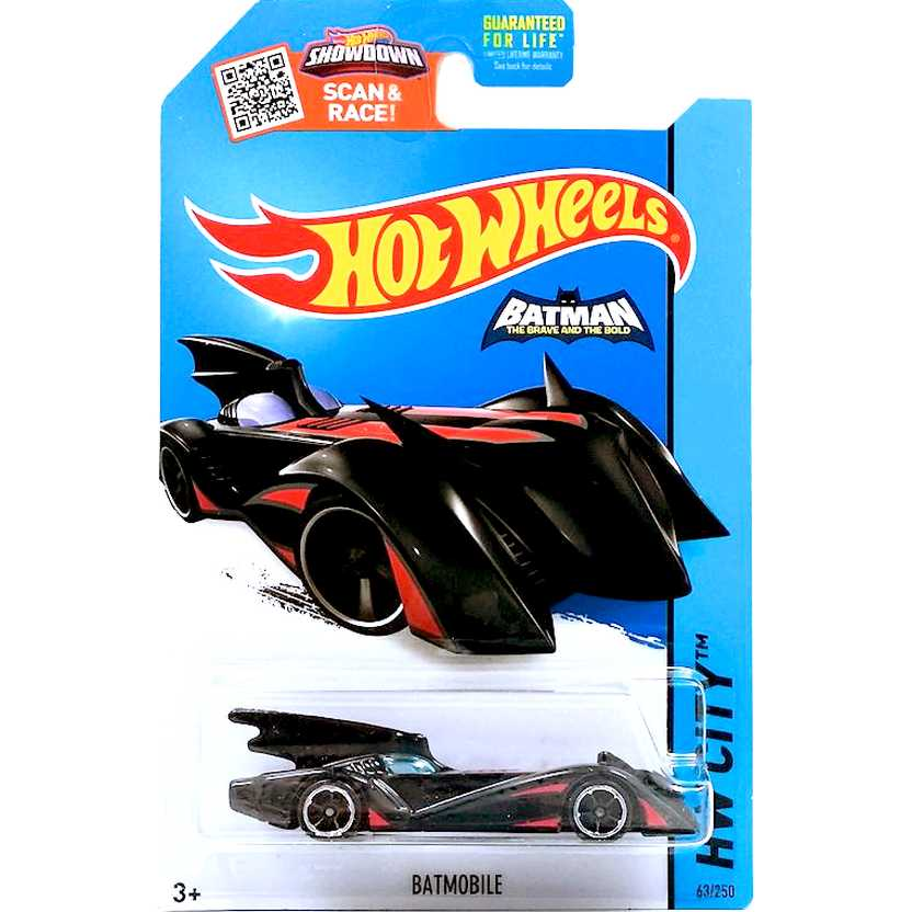 Hot Wheels 2015 Batmobile red (The Brave and the Bold) 63/250 CFL45 Batmóvel escala 1/64