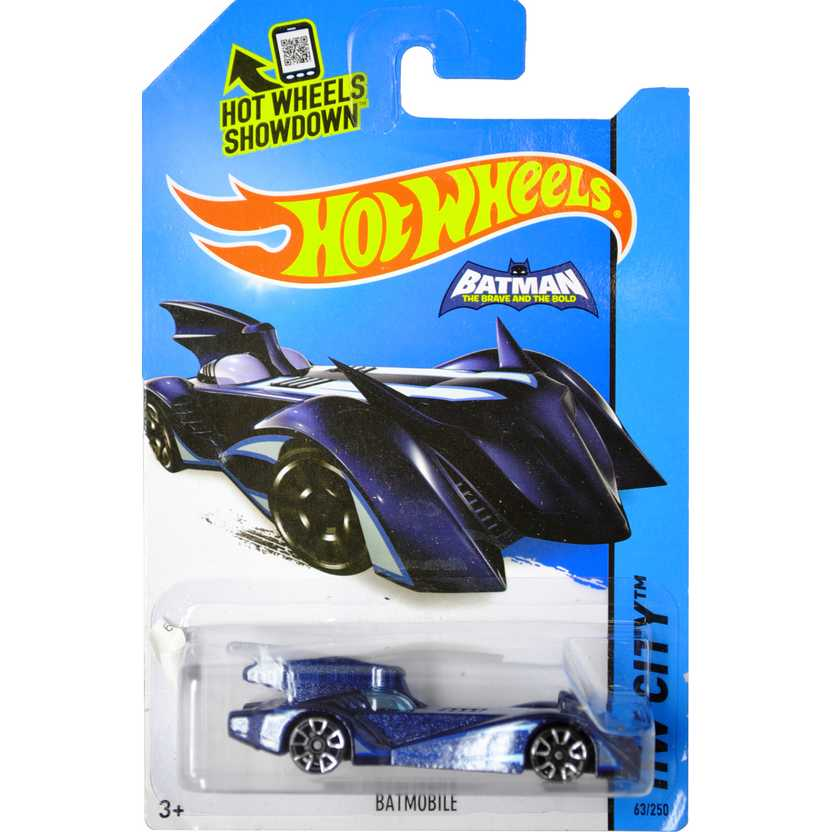Hot Wheels 2015 Batmobile (The Brave and the Bold) series 63/250 CFK21 Batmóvel escala 1/64