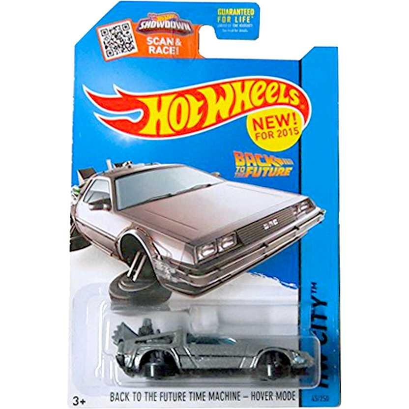 Hot Wheels 2015 De Volta para o Futuro - Delorean Hover Mode CFG79 series 45/250 escala 1/64