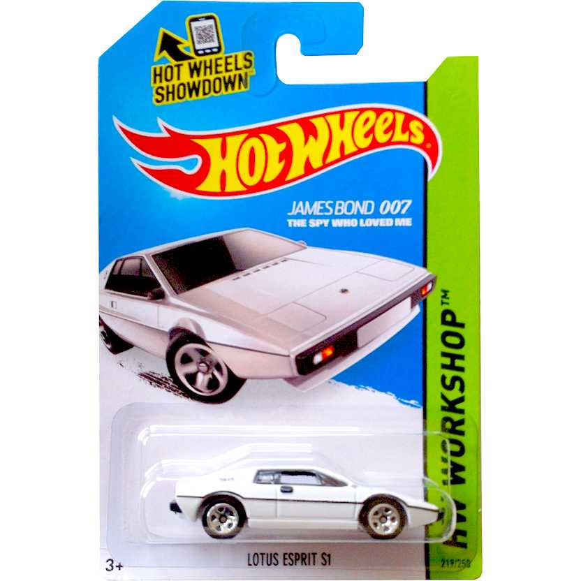 Hot Wheels 2015 James Bond Lotus Esprit S1 CFG74 series 219/250 escala 1/64