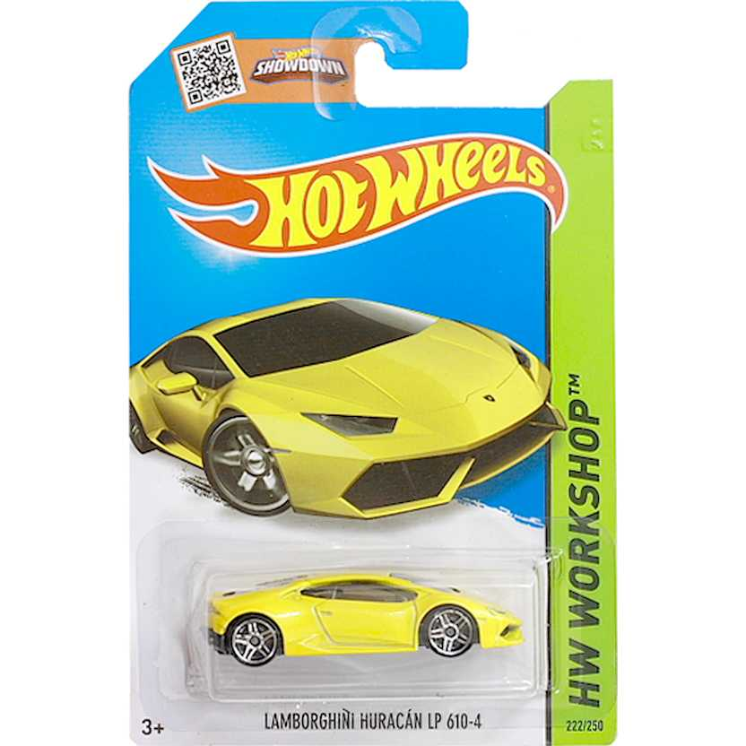 Hot Wheels 2015 Lamborghini Huracán LP 610-4 amarelo CFH19 series 222/250 escala 1/64