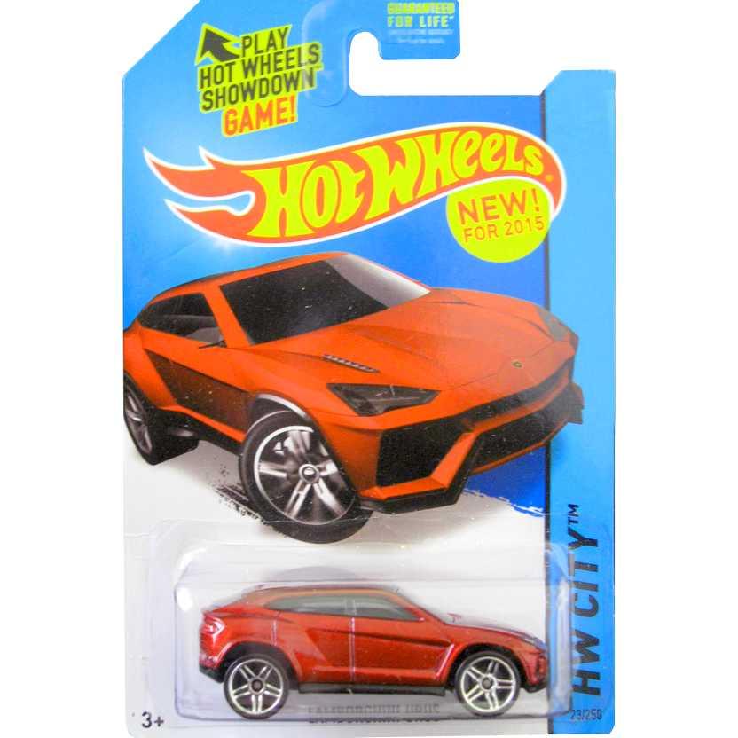 Hot Wheels 2015 Lamborghini Urus vermelha CFG93 series 23/250 escala 1/64