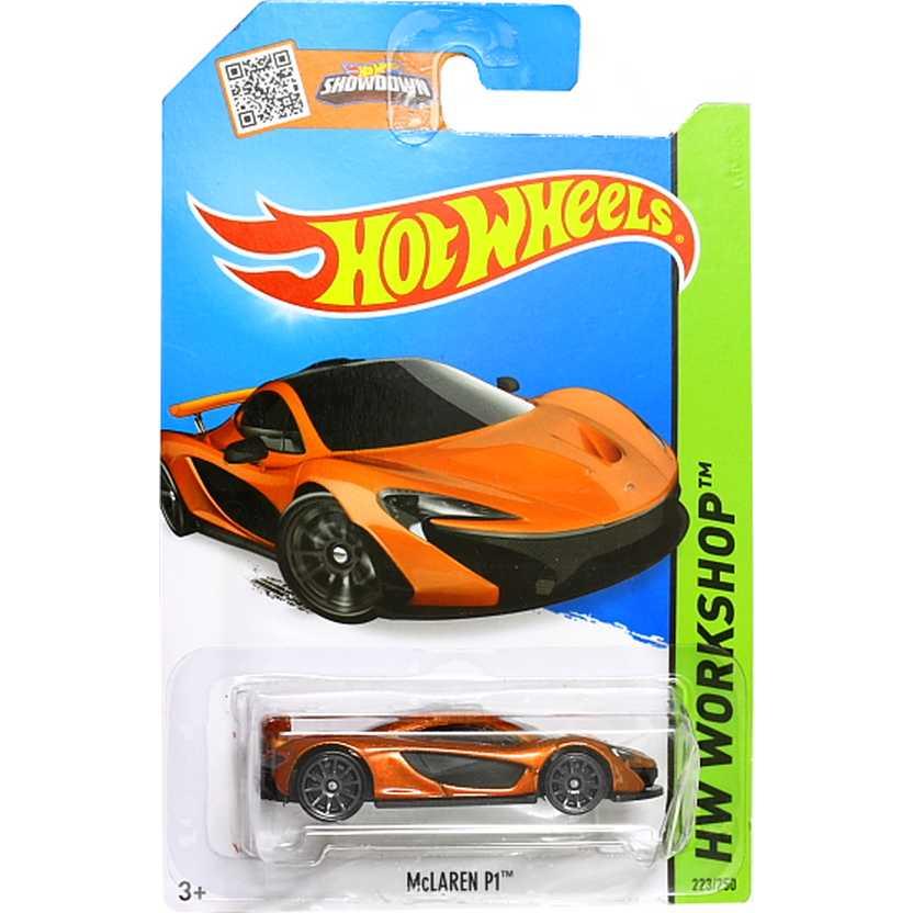Hot Wheels 2015 McLaren P1 laranja metálico CFH20 series 223/250 escala 1/64