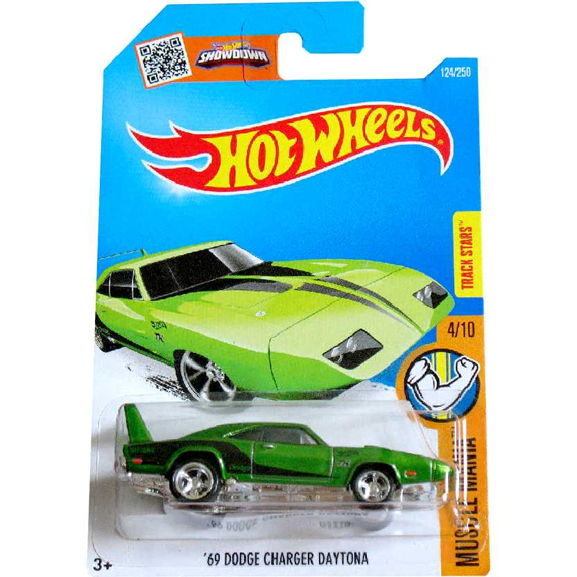 Hot Wheels 2016 Super T-Hunt Superized 69 Dodge Charger Daytona DHT83 124/250 escala 1/64