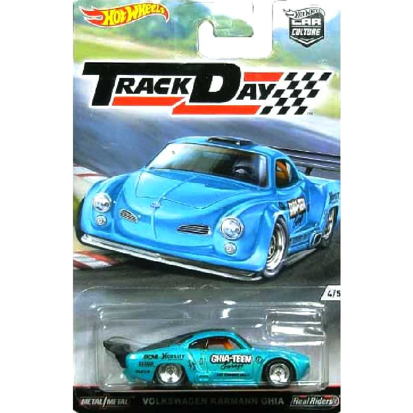 Hot Wheels 2016 Volkswagen Karmann Ghia Track Day Car Culture series 4/5 DJF96 escala 1/64