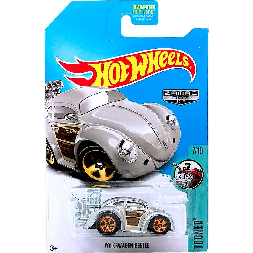 Hot Wheels 2017 Volkswagen Beetle (Fusca) Zamac Tooned series 7/10 FBH84 escala 1/64