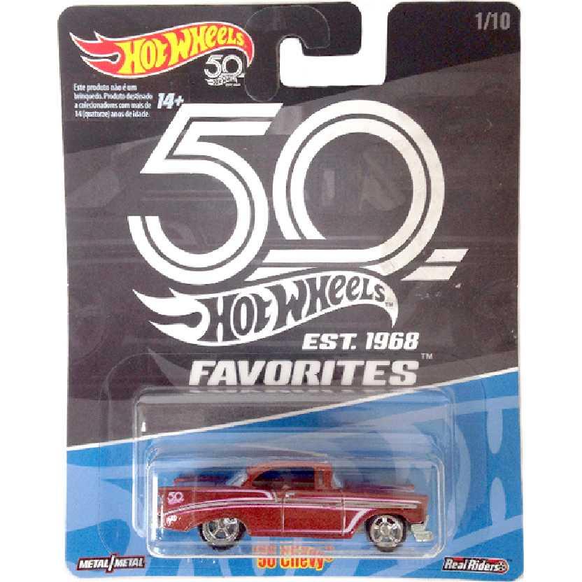 Hot Wheels 56 Chevy Bel Air linha Favoritos 50 Anos series 1/10 FLF38 escala 1/64