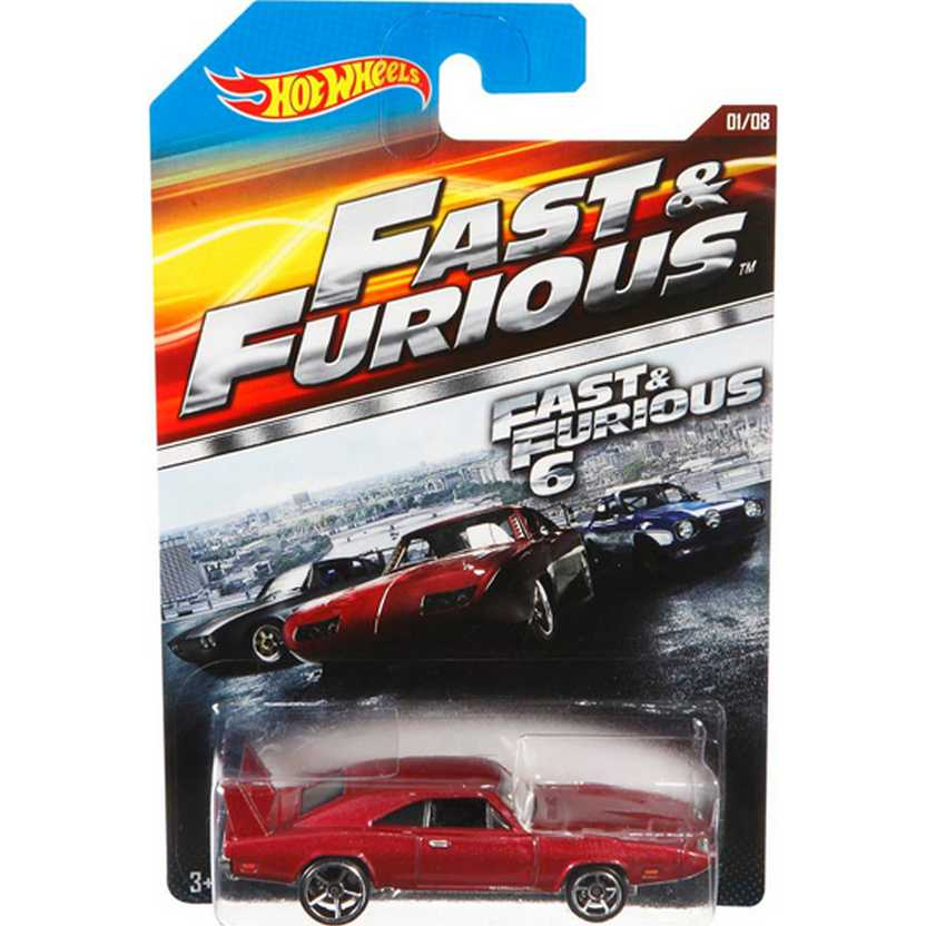 Hot Wheels 69 Dodge Charger Daytona series 01/08 CMK18 Velozes e Furiosos 6 escala 1/64