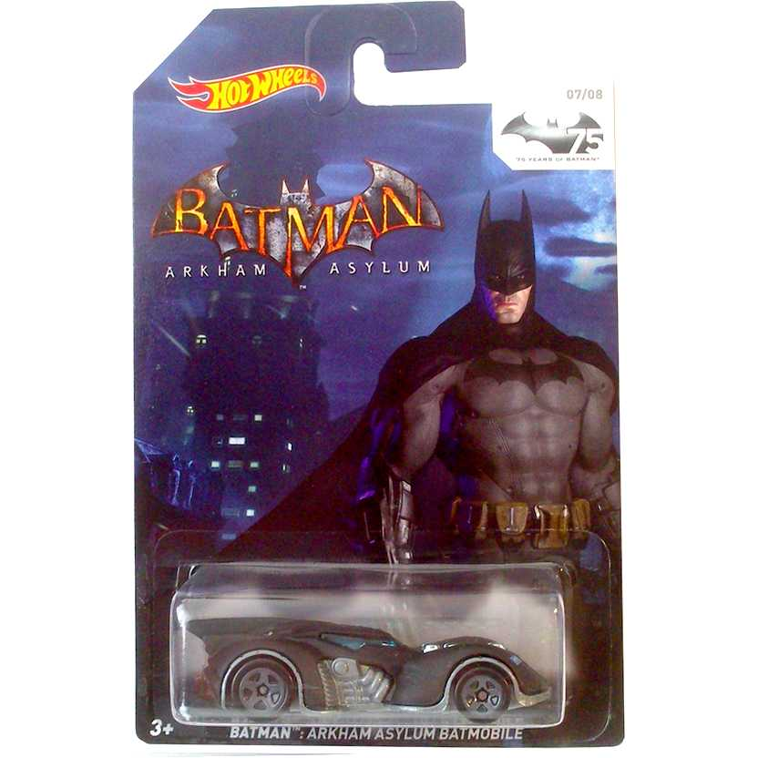 Hot Wheels 75th Anniversary of Batman 2014 Batman Arkham Asylum Batmobile (Batmóvel) TPN14