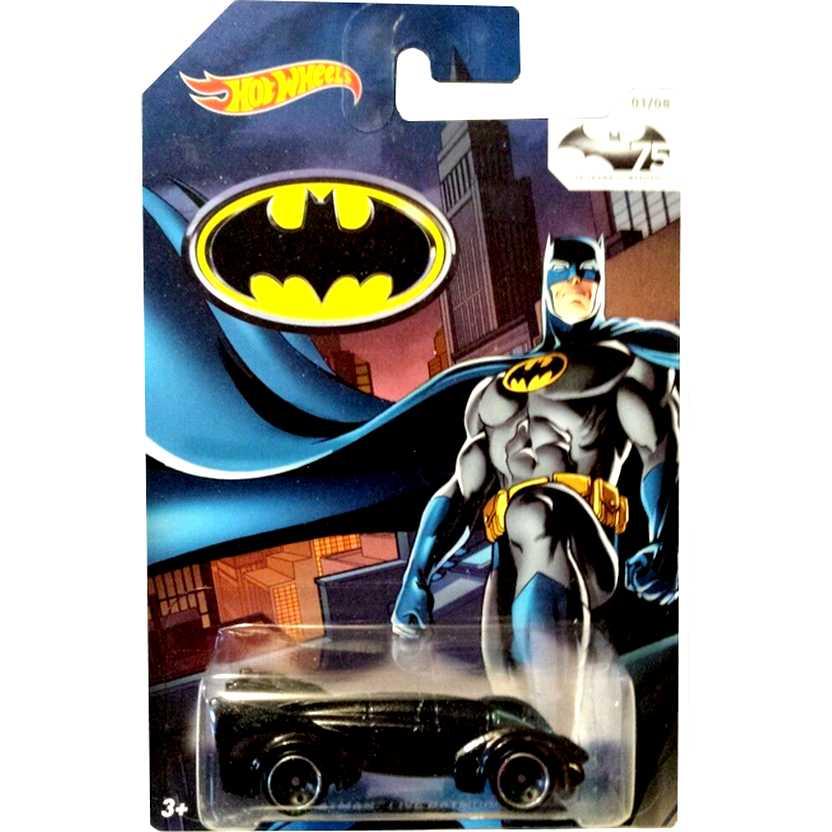 Hot Wheels 75th Anniversary of Batman 2014 Batman Live Batmobile (Batmóvel) TPN1