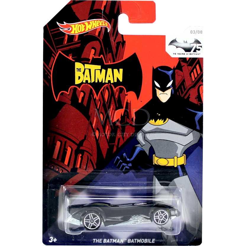 Hot Wheels 75th Anniversary of Batman 2014 The Batman Batmobile ( Batmóvel ) TPN9
