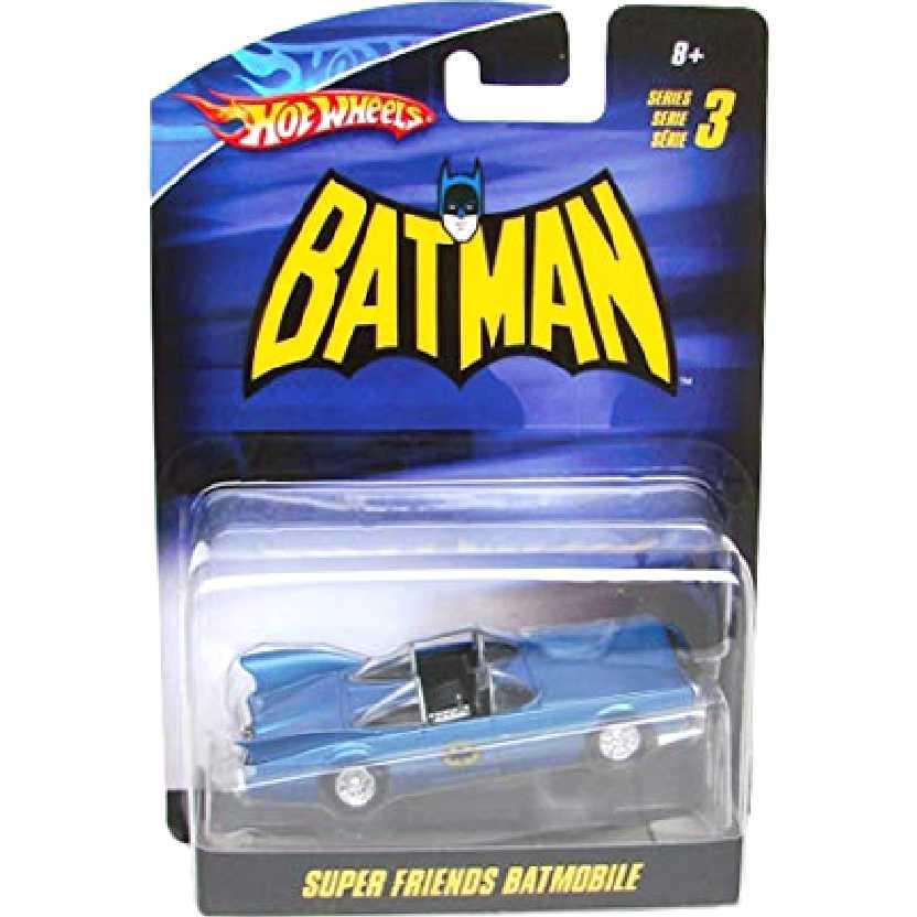 Hot Wheels Batmóvel Batman Super Friends Batmobile escala 1/50 N8015 series 3