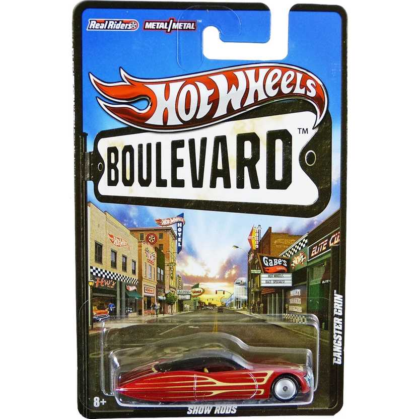 Hot Wheels Boulevard 2012 Gangster Grin W4592 com pneus de borracha